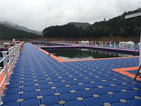floating swimming pool platform