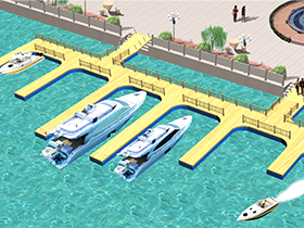 floating dock plastic