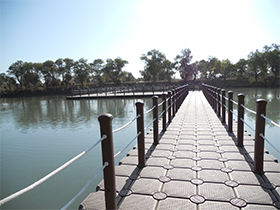 Floating Pontoon Bridge