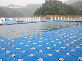 plastic floating swimming pool