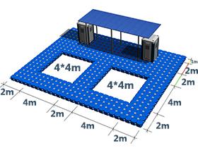 plastic floating swimming pool