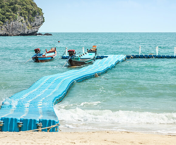 floating platform on the sea