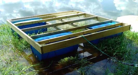 how to make a floating dock