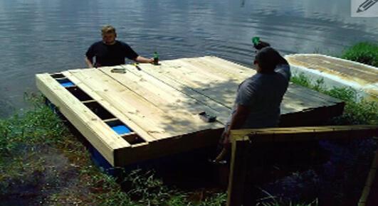 diy floating dock