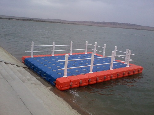 Floating dock for pond
