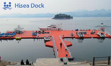 A plastic marina dock