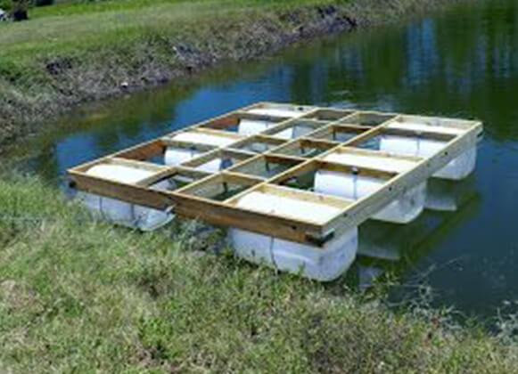launching a semi-finish floating platform