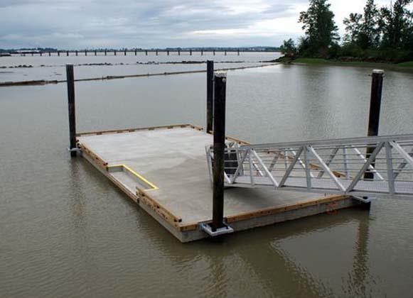 concrete floating platform