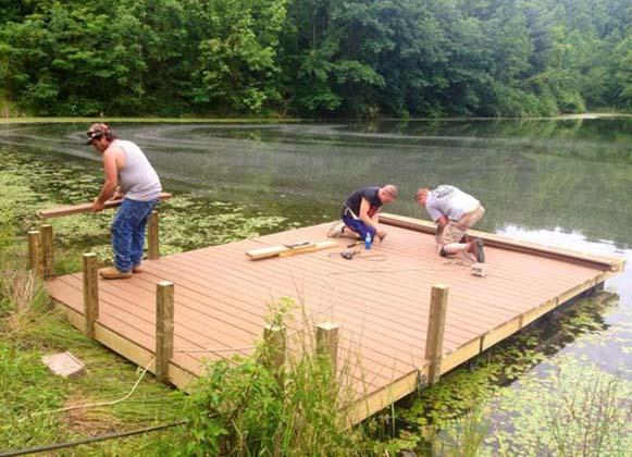 building a floating platform