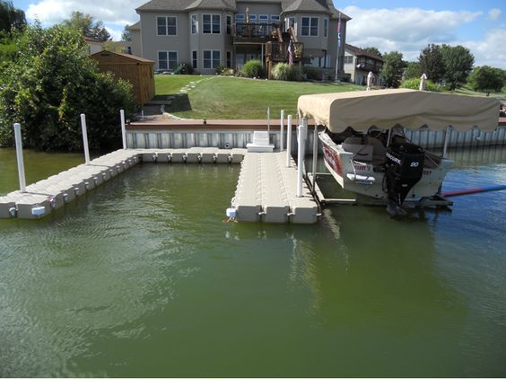 floating boat dock system