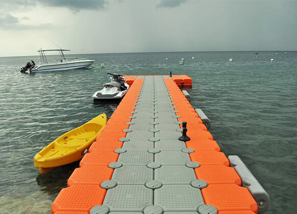 A Plastic Floating Dock