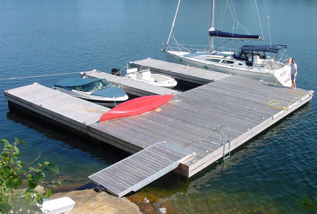 Aluminum Jet Ski Floating Dock from Kropf Industrial