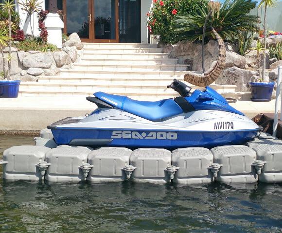 Jet Ski on Floating Dock