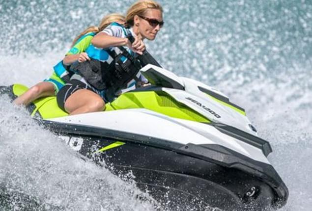 Driving a Sea-Doo GTI jet ski