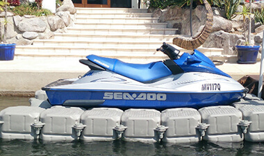 Jet Ski on Floating Dock