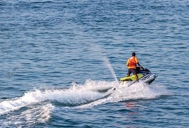 Jet ski riding