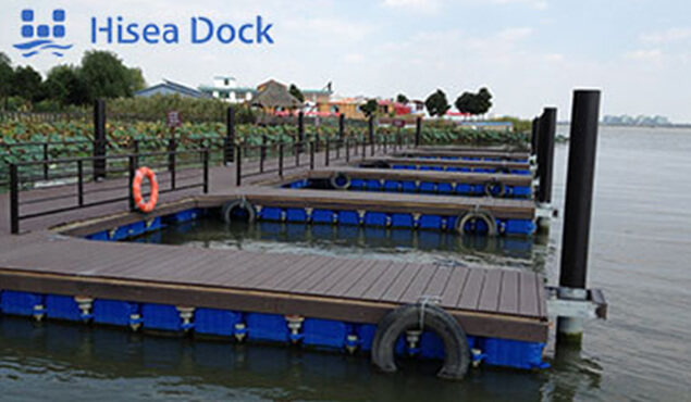 A drive-on dock installed at sea