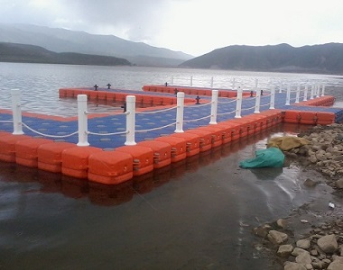Plastic pond floating dock