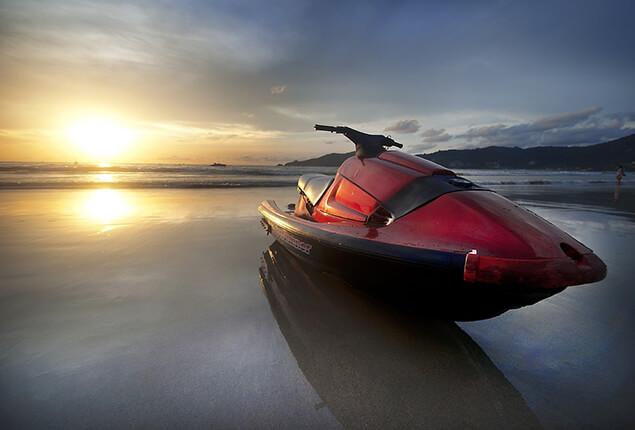 Red jet ski