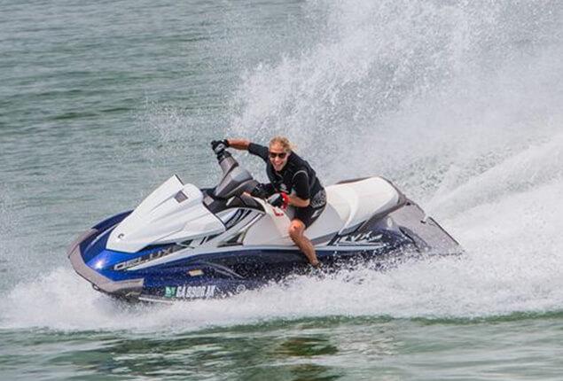 Man Riding a Yamaha VX jet ski