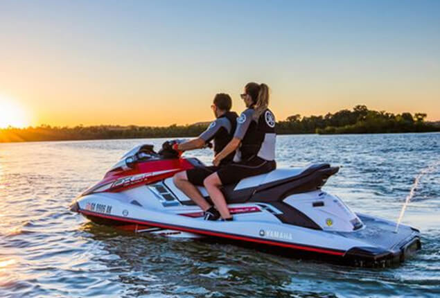 Jet Skiing in Sunset