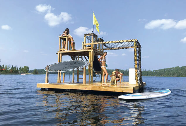 Wild Swimming with a Floating Platform
