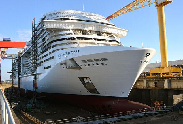 ship on wet docks