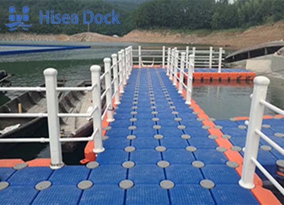 A Floating Dock Made of Plastic