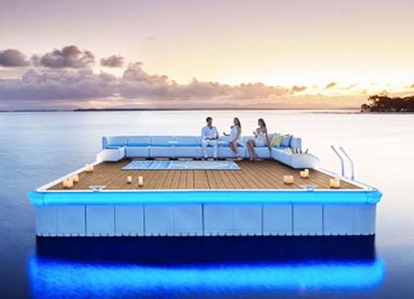 A Floating Platform With A Lounge