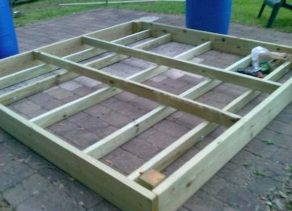 Floating Dock Frame Structure