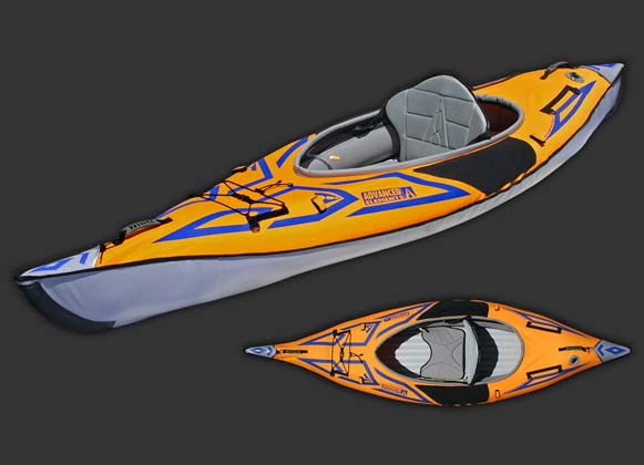 An inflatable kayak