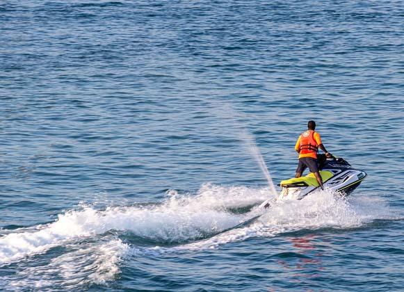 jet ski riding vacation