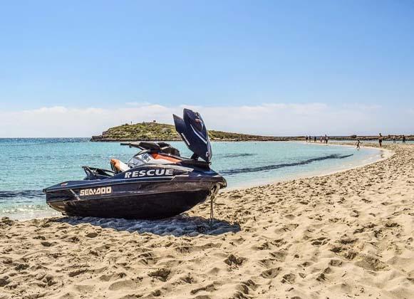 Jet ski on a beach