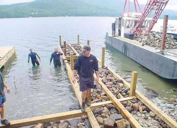 Construction of a crib dock