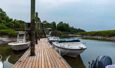 Dock with boats