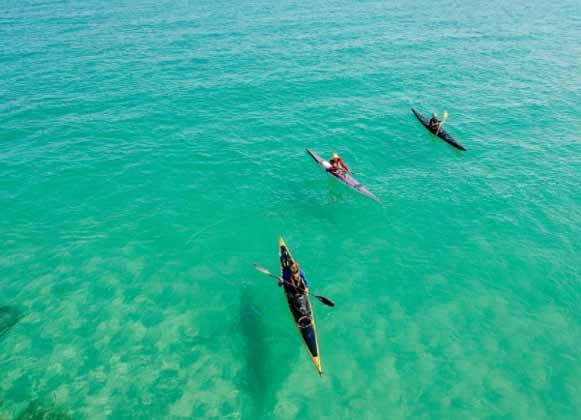 Kayaks Sailing