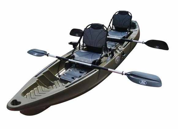 A two person tandem kayak