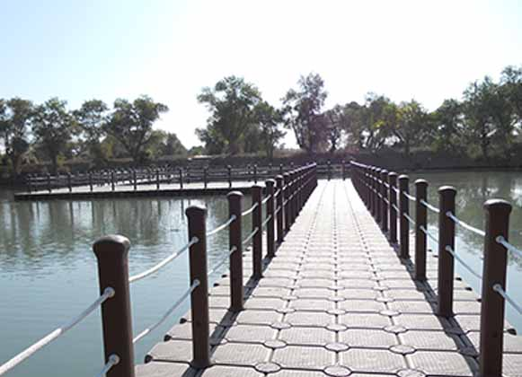 plastic floating bridge