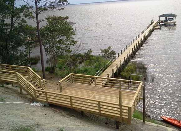A Dock with a Shade