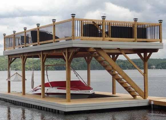 A Multi-Level Floating Dock
