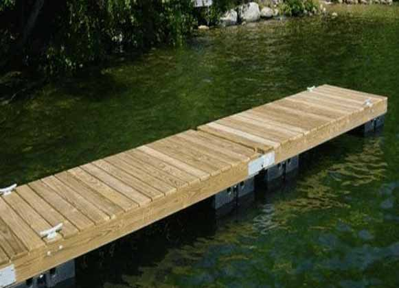 A Straight-Line Floating Dock