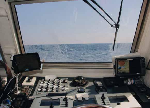 Boat navigating equipment