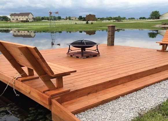Built-In Seating Floating Dock
