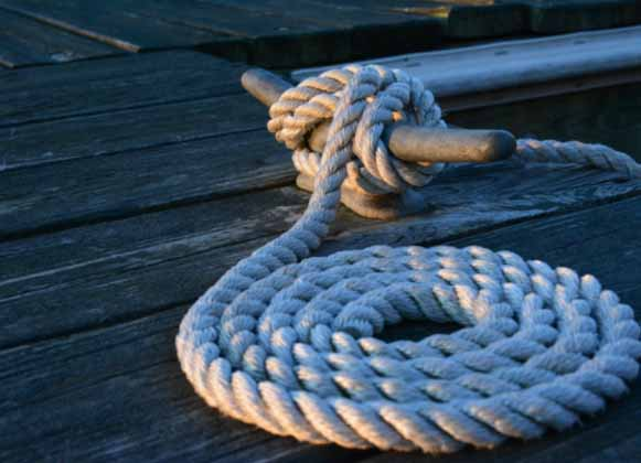Dock with rope