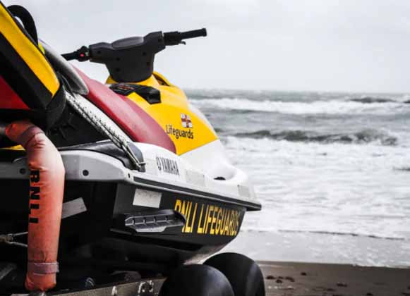 A picture of a Yamaha Waverunner at sea