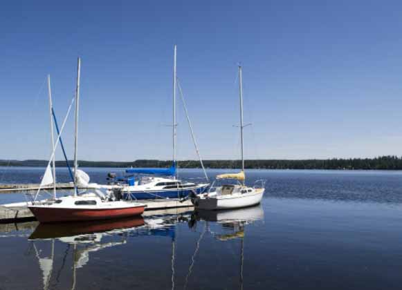 A Floating Dock with Boats