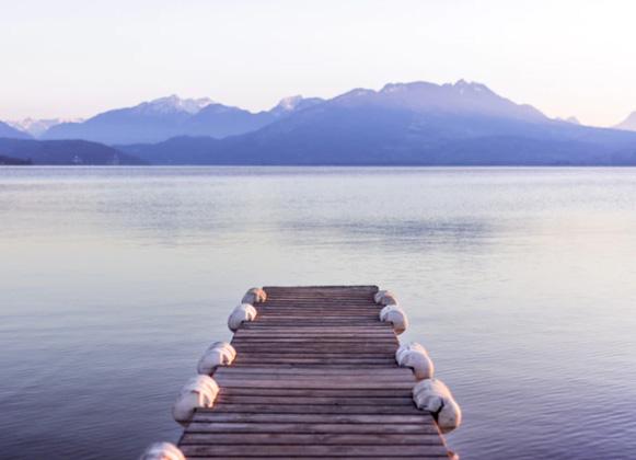 A floating swim dock