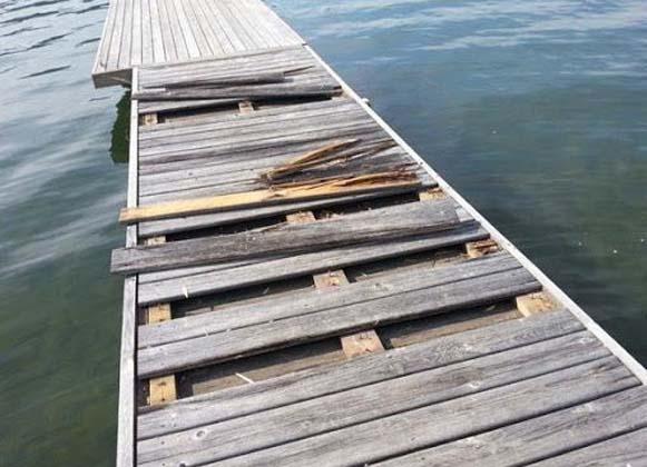 Damaged Dock Decking