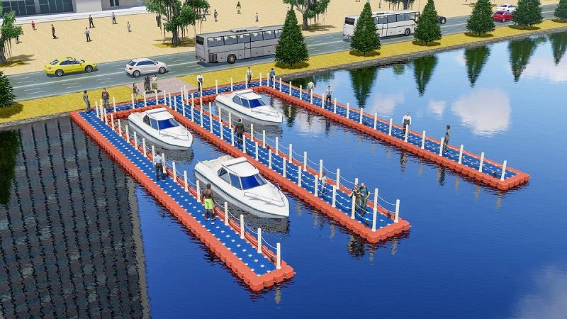 floating walkway construction plan